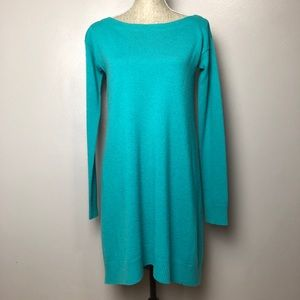 DVF Branitta Boat Neck Cashmere Wool Sweater Dress